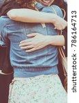 hug happy with a hug.happy to... | Shutterstock . vector #786164713