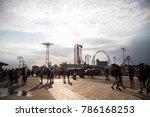 coney island  new york  august... | Shutterstock . vector #786168253
