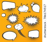 comic speech bubbles. comic... | Shutterstock .eps vector #786174517