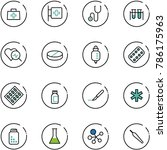 line vector icon set   doctor... | Shutterstock .eps vector #786175963