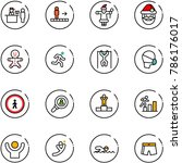 line vector icon set   passport ... | Shutterstock .eps vector #786176017