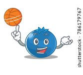 with basketball blueberry... | Shutterstock .eps vector #786179767