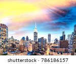 sunset aerial view of midtown... | Shutterstock . vector #786186157