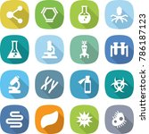 flat vector icon set   molecule ... | Shutterstock .eps vector #786187123