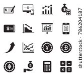 solid black vector icon set  ... | Shutterstock .eps vector #786204187
