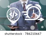 agile api development business... | Shutterstock . vector #786210667