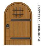 old wooden door illustration... | Shutterstock . vector #786213037