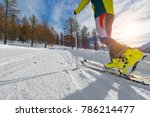 detail of uphill ski touring in ... | Shutterstock . vector #786214477