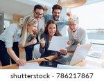 business people working... | Shutterstock . vector #786217867