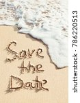save the date handwritten on... | Shutterstock . vector #786220513