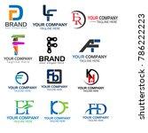letter f logo set. set of...   Shutterstock .eps vector #786222223