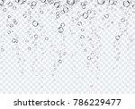 bubbles underwater texture... | Shutterstock .eps vector #786229477
