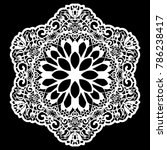 lace round paper doily  lacy...   Shutterstock .eps vector #786238417