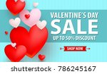valentines day up to 50 ... | Shutterstock .eps vector #786245167