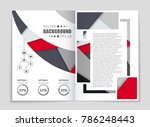 abstract vector layout... | Shutterstock .eps vector #786248443