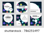 abstract vector layout... | Shutterstock .eps vector #786251497