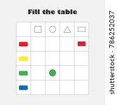 fill the table with colorful... | Shutterstock .eps vector #786252037