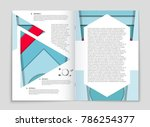 abstract vector layout... | Shutterstock .eps vector #786254377