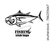 angry tuna fish logo. tuna... | Shutterstock . vector #786255667
