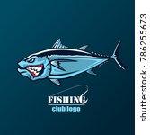 angry tuna fish logo. tuna... | Shutterstock . vector #786255673