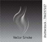 vector cigarette smoke on... | Shutterstock .eps vector #786257227