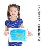 little girl with beautiful...   Shutterstock . vector #786257437