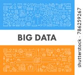 vector line banner for big data.... | Shutterstock .eps vector #786259267