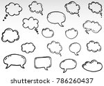 doodle thinking clouds  chat... | Shutterstock .eps vector #786260437