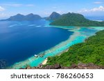the majestic view of corals... | Shutterstock . vector #786260653