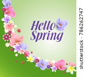 spring flower background design | Shutterstock .eps vector #786262747