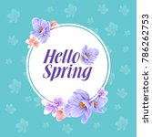 spring flower background design | Shutterstock .eps vector #786262753