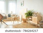 stylish living room interior... | Shutterstock . vector #786264217