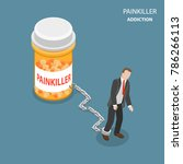 painkiller addiction flat... | Shutterstock .eps vector #786266113