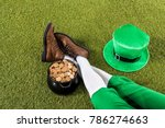 Cropped View Of Leprechaun Wit...