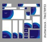 modern abstract web banners set ... | Shutterstock .eps vector #786278953