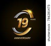 19 years anniversary...   Shutterstock .eps vector #786281473