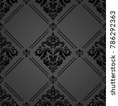 classic seamless vector dark... | Shutterstock .eps vector #786292363