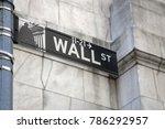 wall street sign in new york... | Shutterstock . vector #786292957