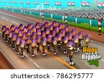 happy republic day of india... | Shutterstock .eps vector #786295777