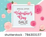 valentines day sale  discount... | Shutterstock .eps vector #786303157