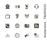 communication icons. perfect... | Shutterstock .eps vector #786303253