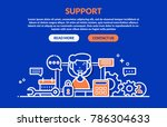 support concept for web page ... | Shutterstock .eps vector #786304633