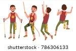 climber set  in action vector.... | Shutterstock .eps vector #786306133