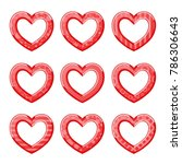 valentine's day background with ...   Shutterstock .eps vector #786306643