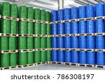 storage of barrels in a... | Shutterstock . vector #786308197