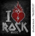 rock graphic for t shirt   Shutterstock . vector #786309157