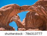 double arch stone arch in the
