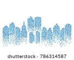 city skyline background vector... | Shutterstock .eps vector #786314587