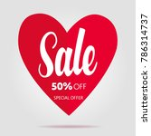 sale valentine's day design... | Shutterstock .eps vector #786314737