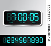 digital alarm clock. vector... | Shutterstock .eps vector #786317773